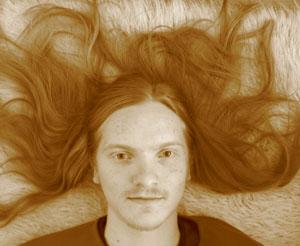 Viktor med håret
